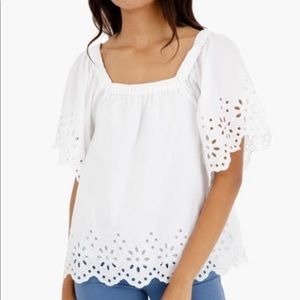 "Vineyard Vines ""Rucker"" eyelet top size small"